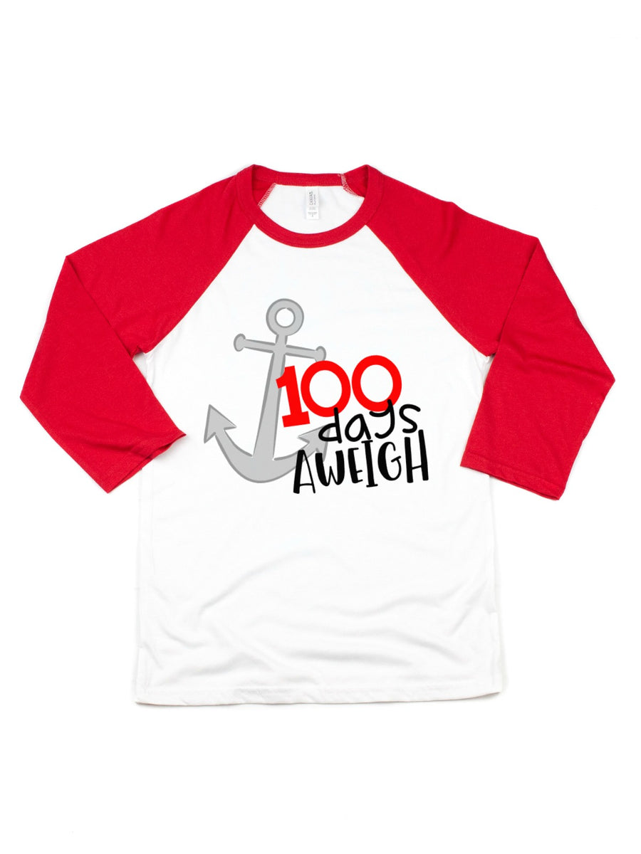 100 days aweigh kids 100th day of school shirt