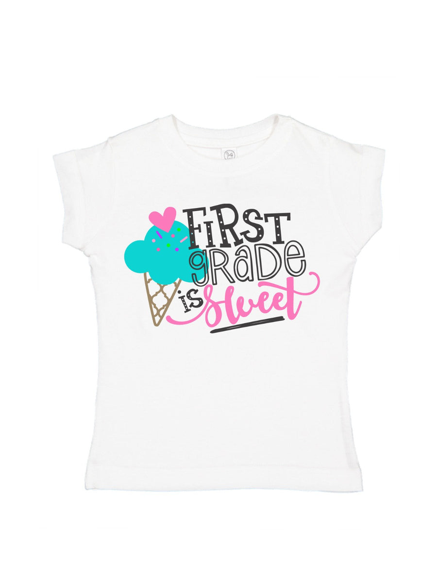 first grade is sweet girls shirt