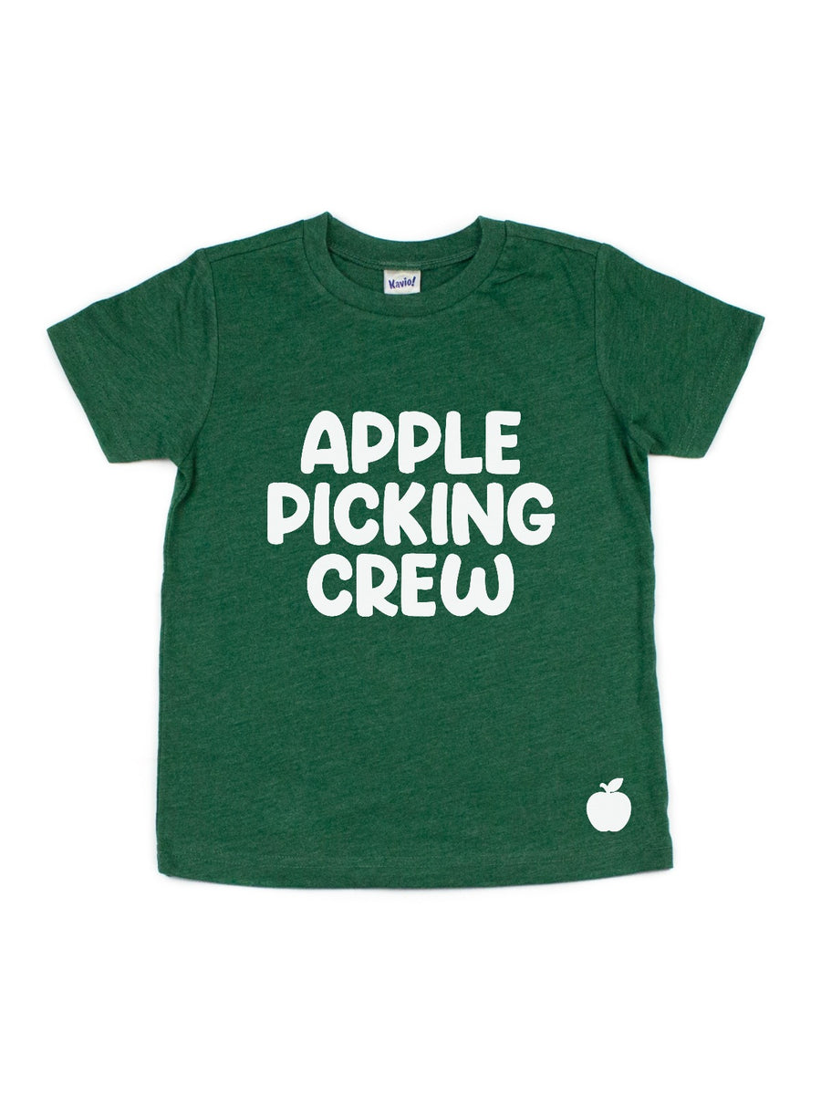 apple picking crew kids fall shirts