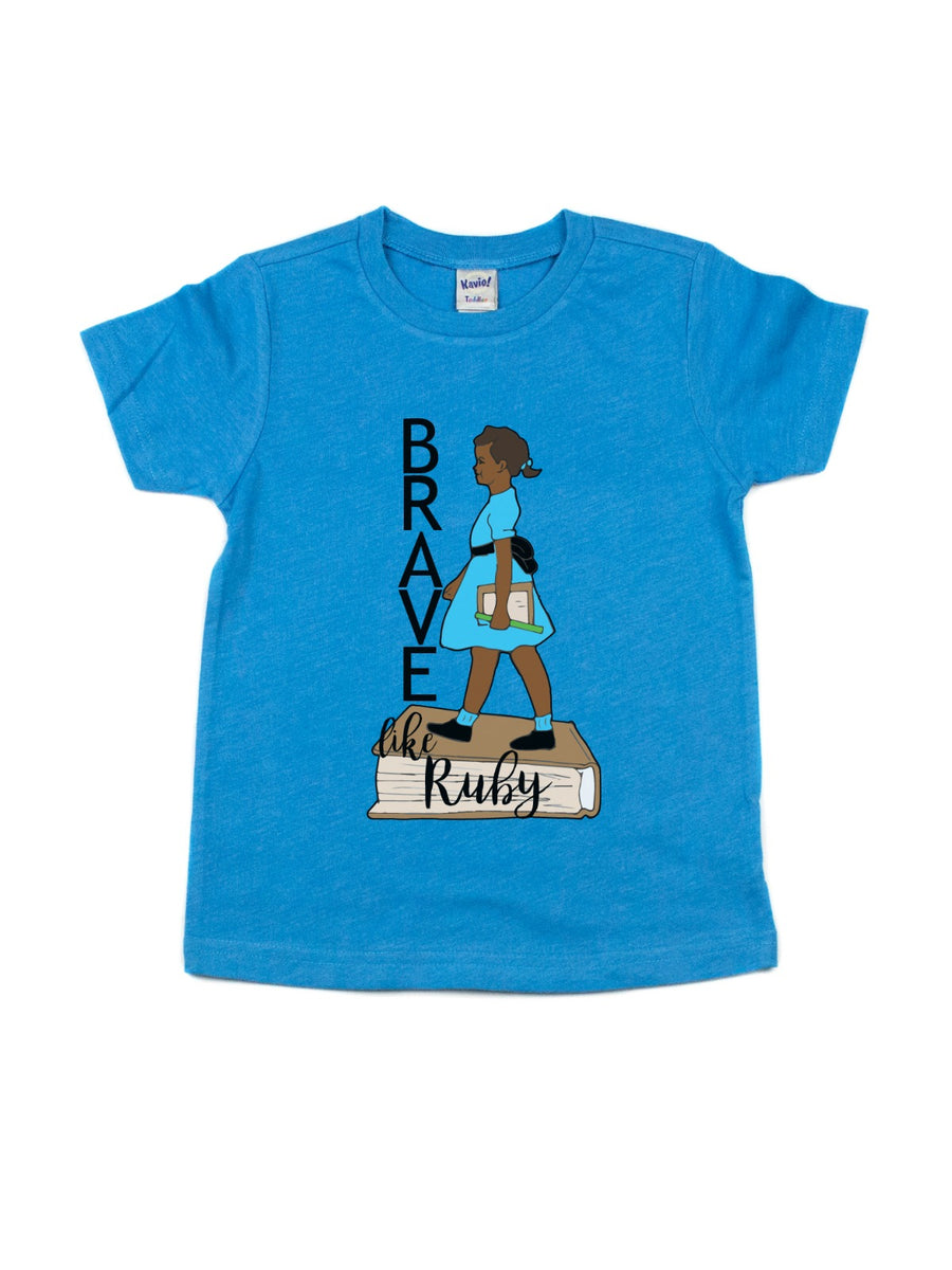 brave like ruby kids black history t-shirt