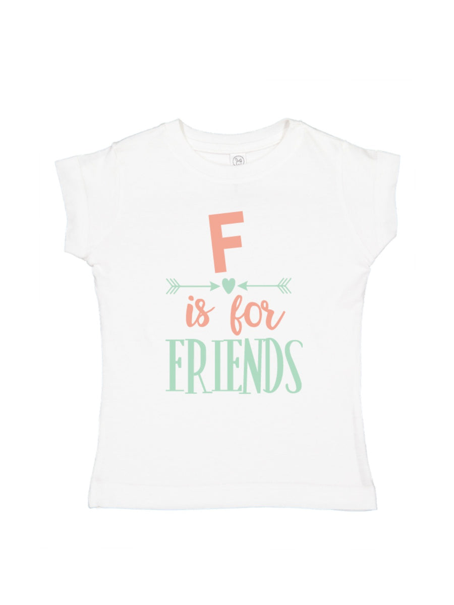 Best Friends Matching T-Shirts, F is for Friend Girls Shirt