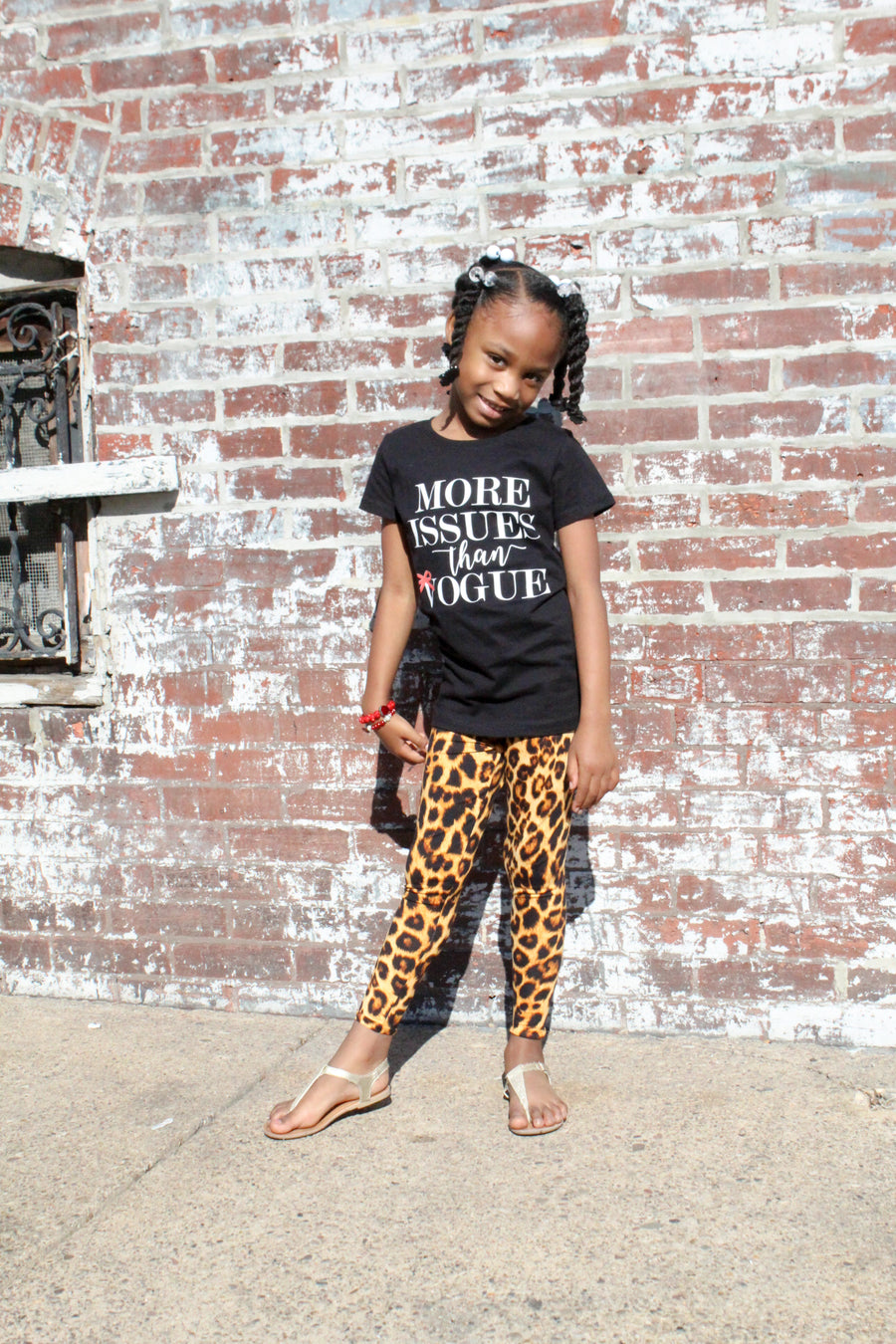 girls leopard animal print leggings