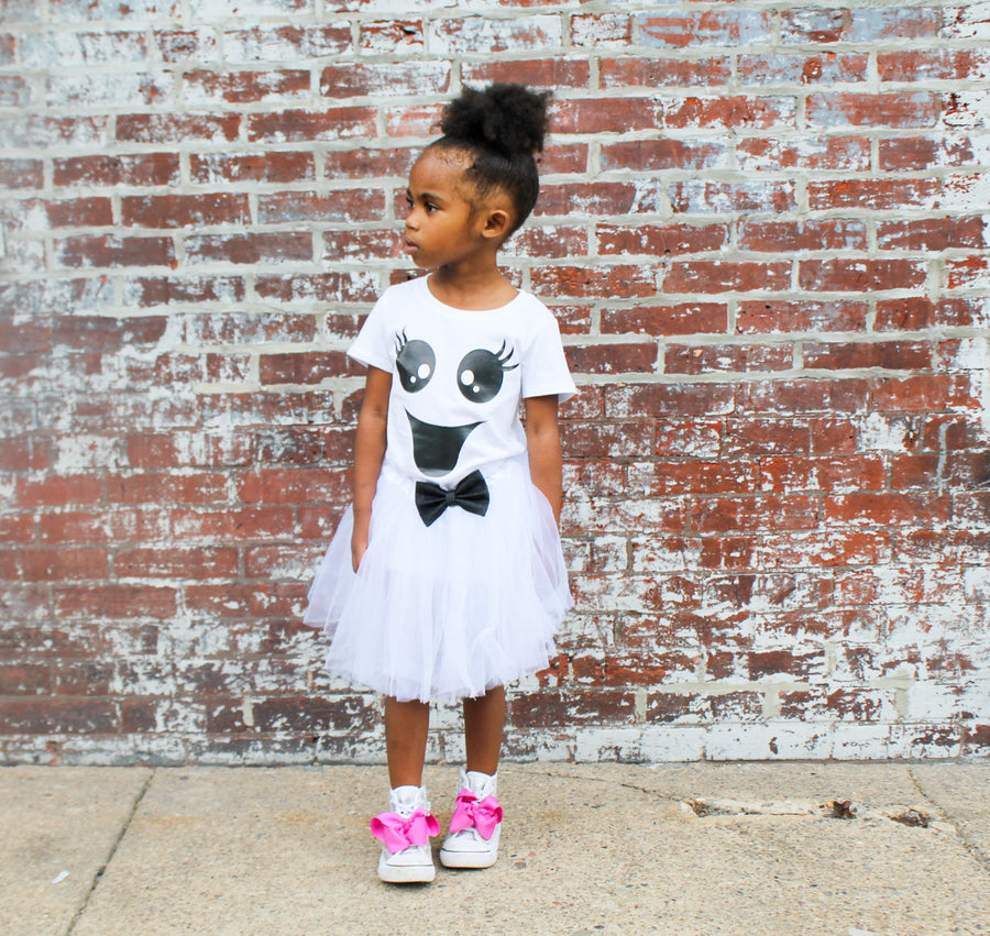 baby girl girly ghost bodysuit