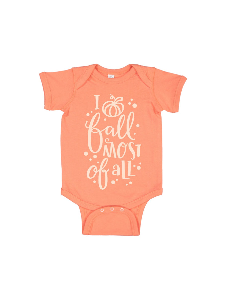 I love fall most of all baby girl baby bodysuit one piece