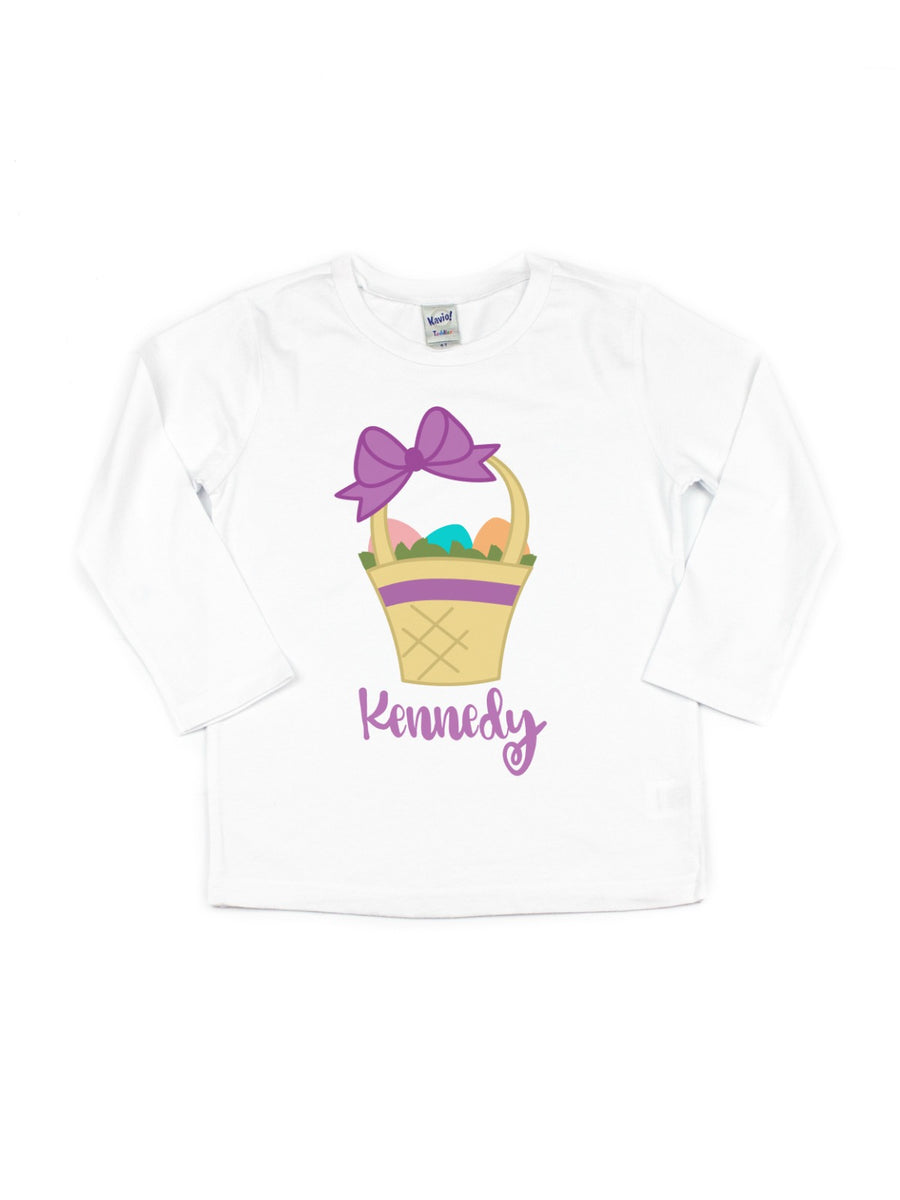 Personalized Easter Basket Tee - Purple