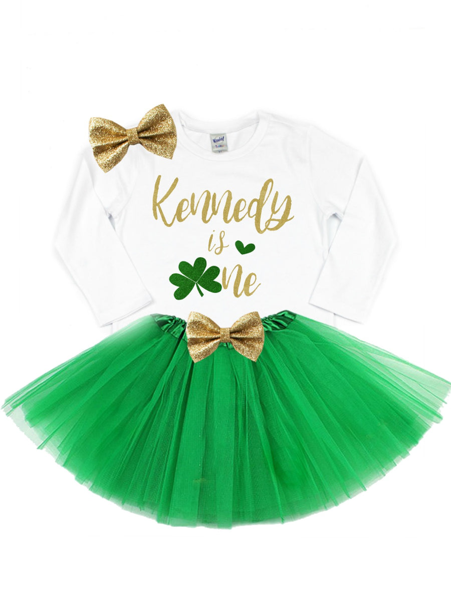 First Birthday St. Patrick's Day Outfit