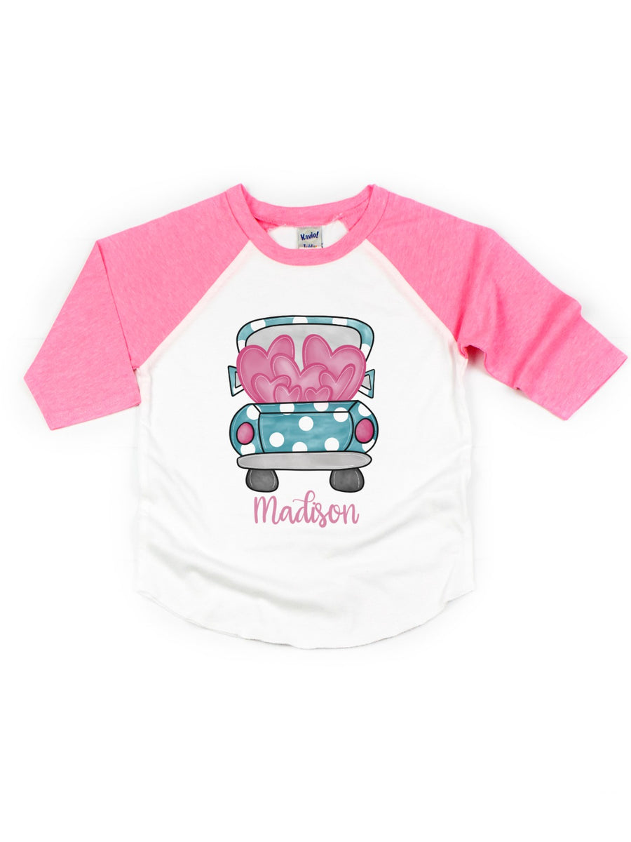 personalized girl's Valentine's Day t-shirt