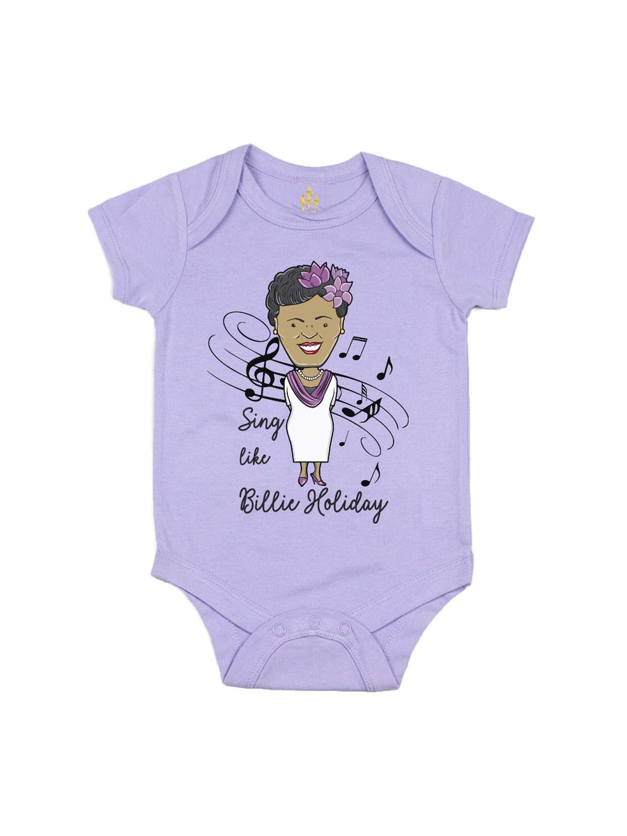 sing like billie holiday girls t-shirt lavender