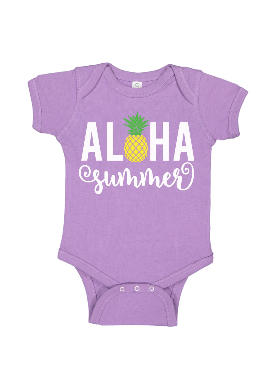 Aloha Summer Chill Blue Baby Bodysuit
