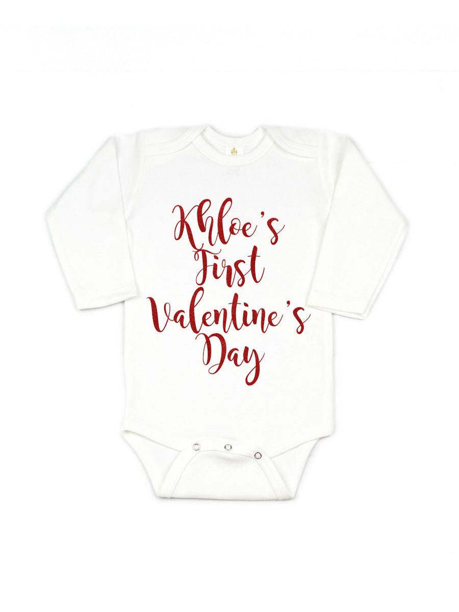 baby girl personalized first valentine's day tutu outfit