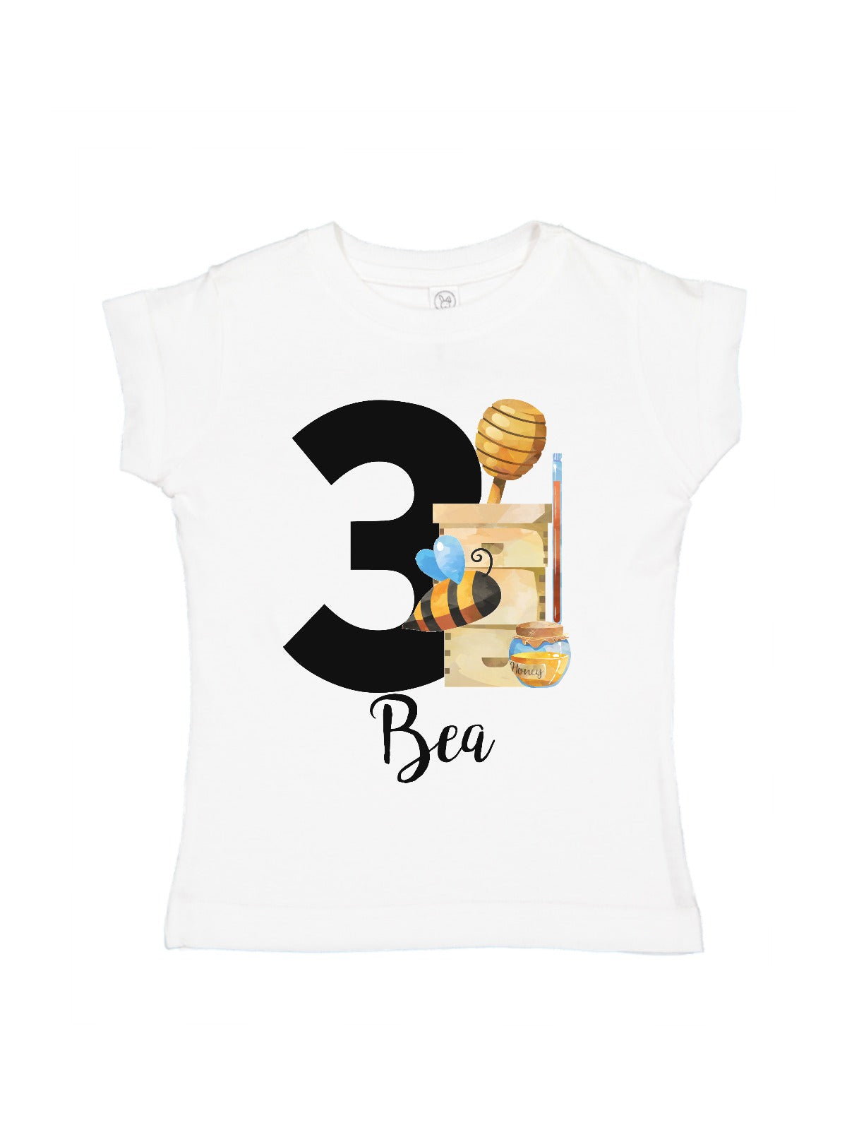 bf19556b6060 girls personalized bee keeper bodysuit and t-shirt