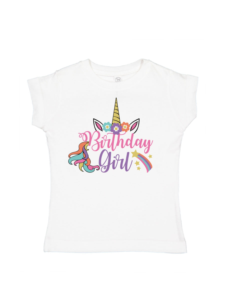 Birthday Girl Unicorn T-Shirt & Bodysuit