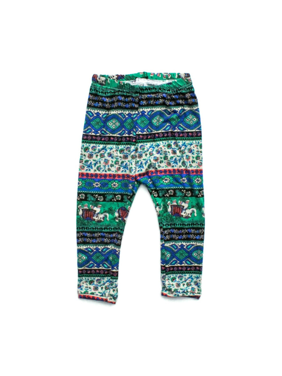 Blue & Green Elephant Leggings