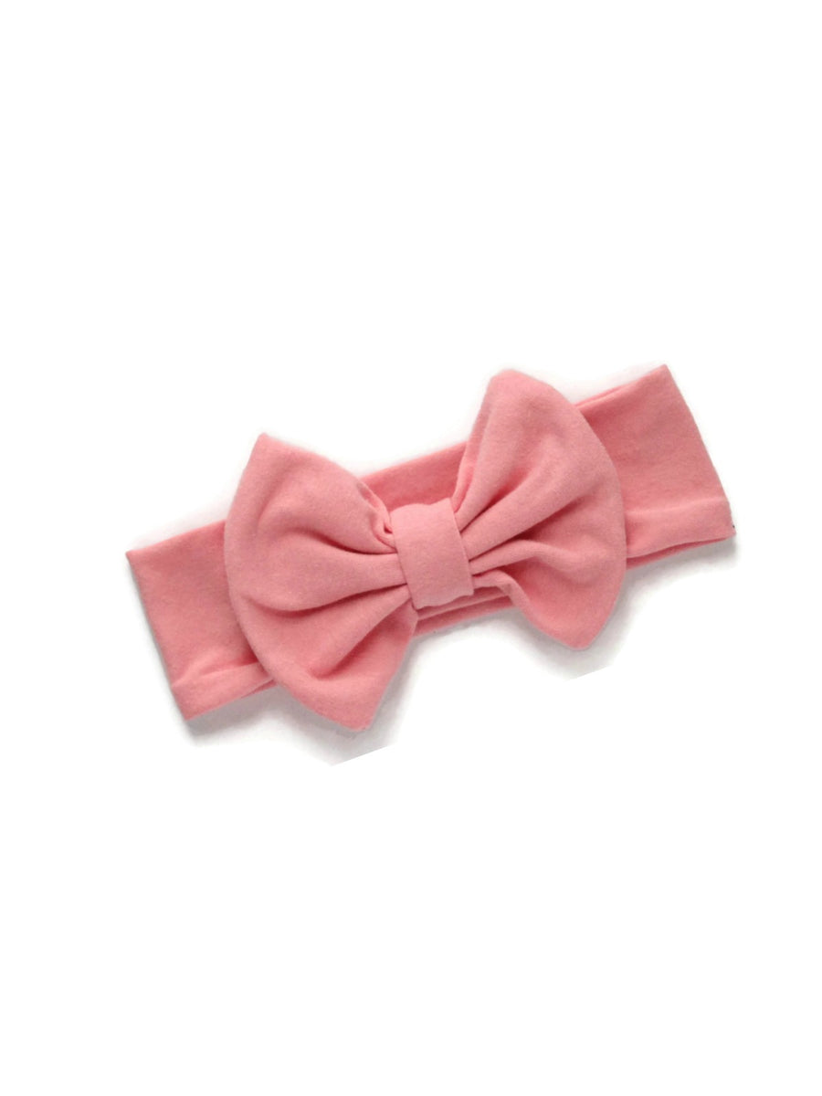 Bow Headband - Blush Pink