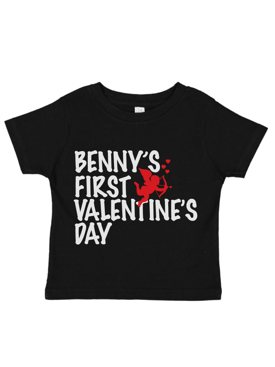 boys first valentines day t-shirt