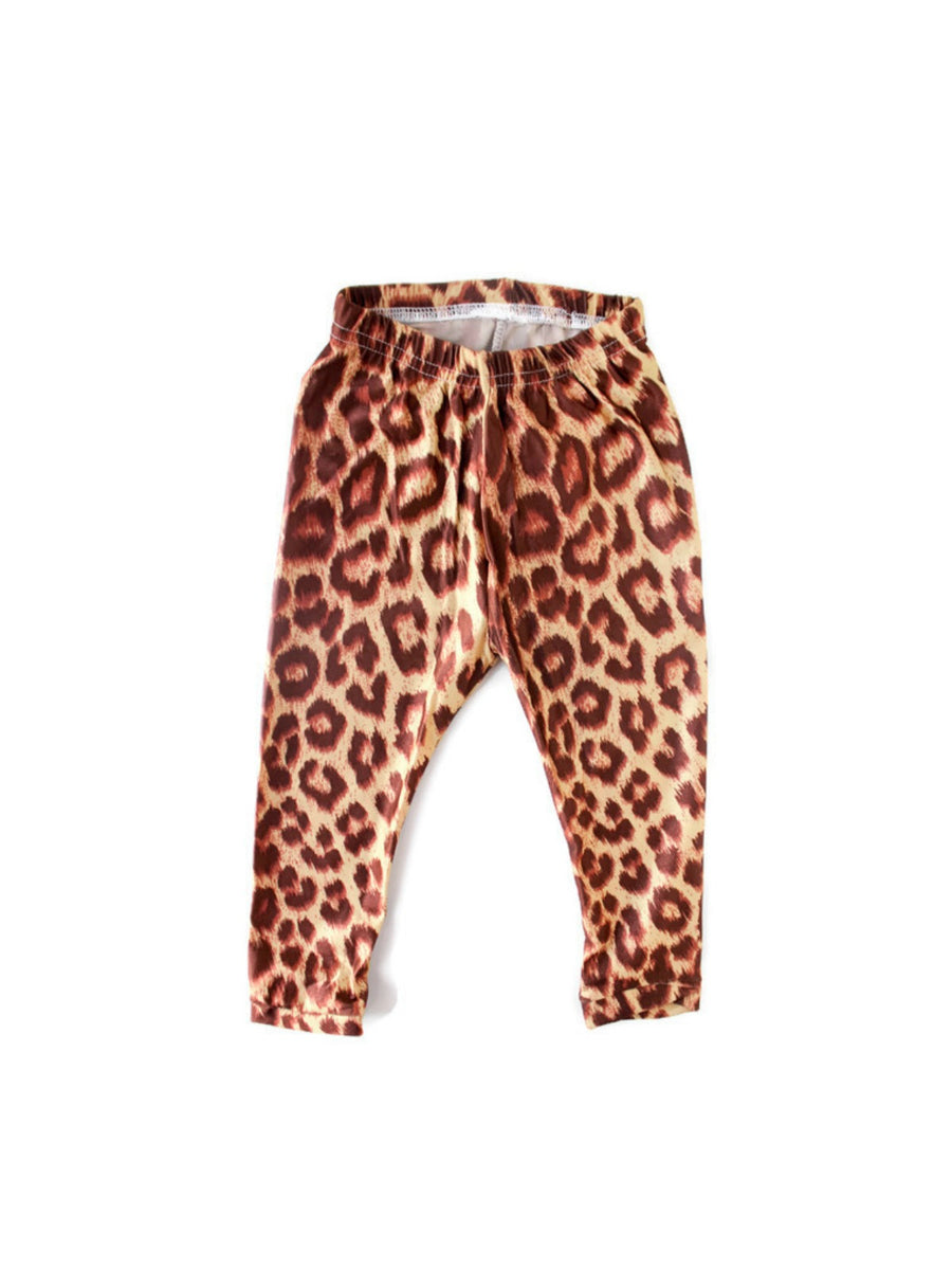 Brown Animal Print Leggings