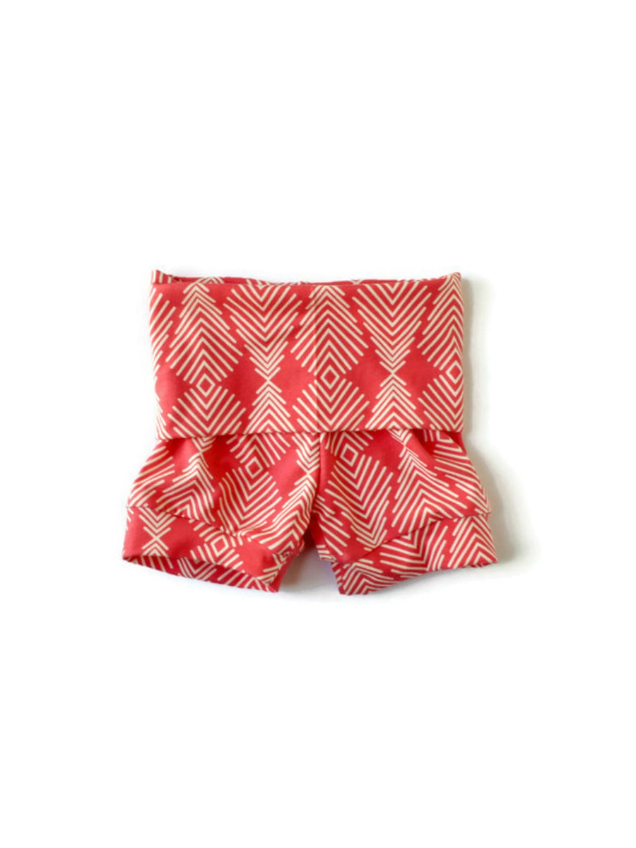 girls coral arrows shorts