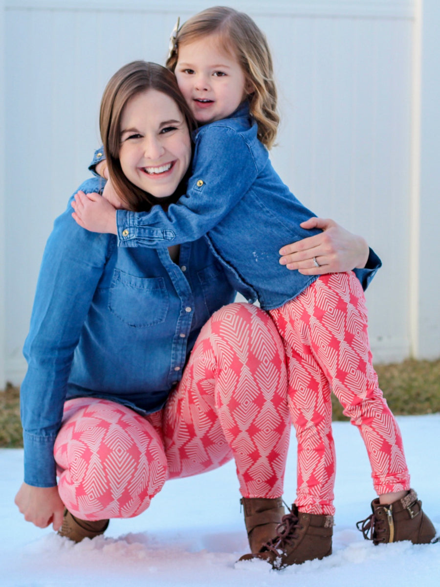 Matching Leggings in Coral Poppy