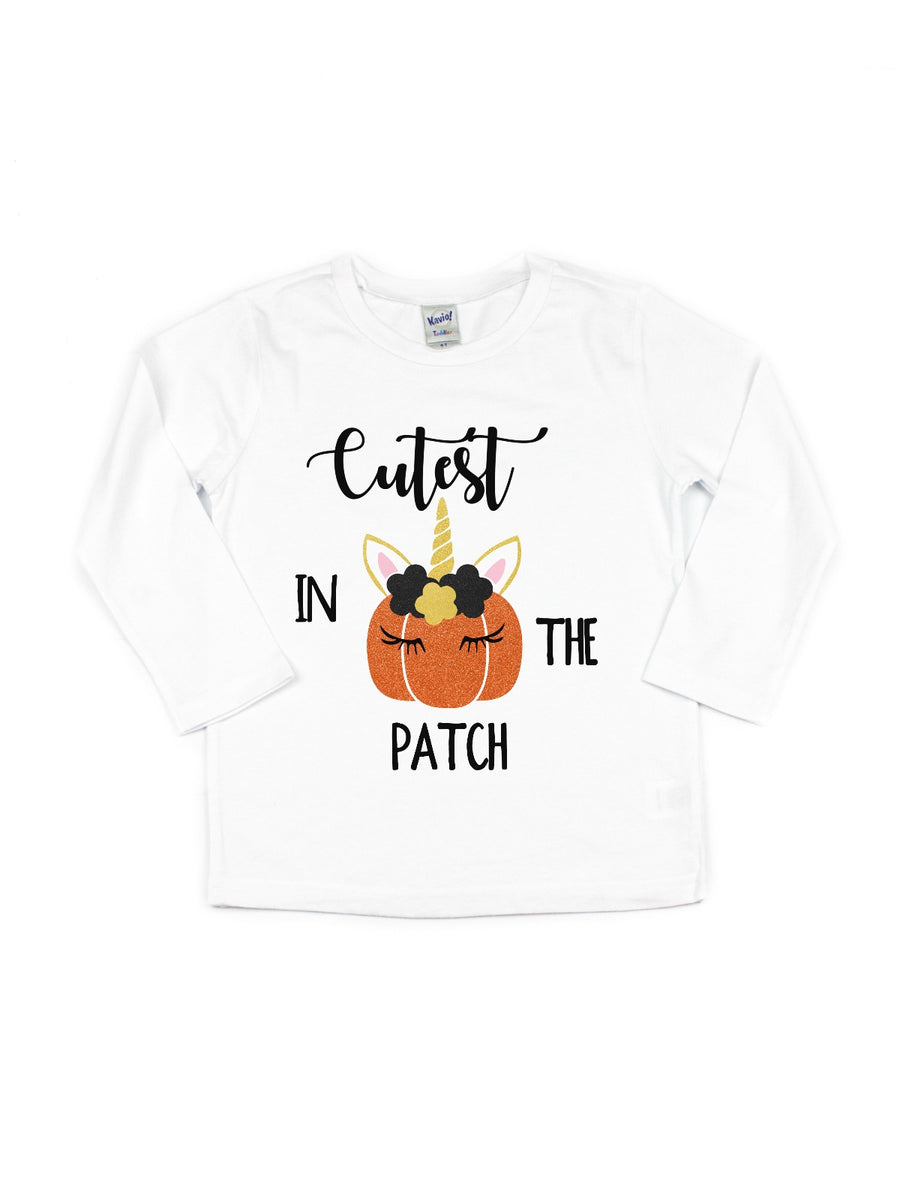 cutest in the patch girls pumpkin tutu outfit