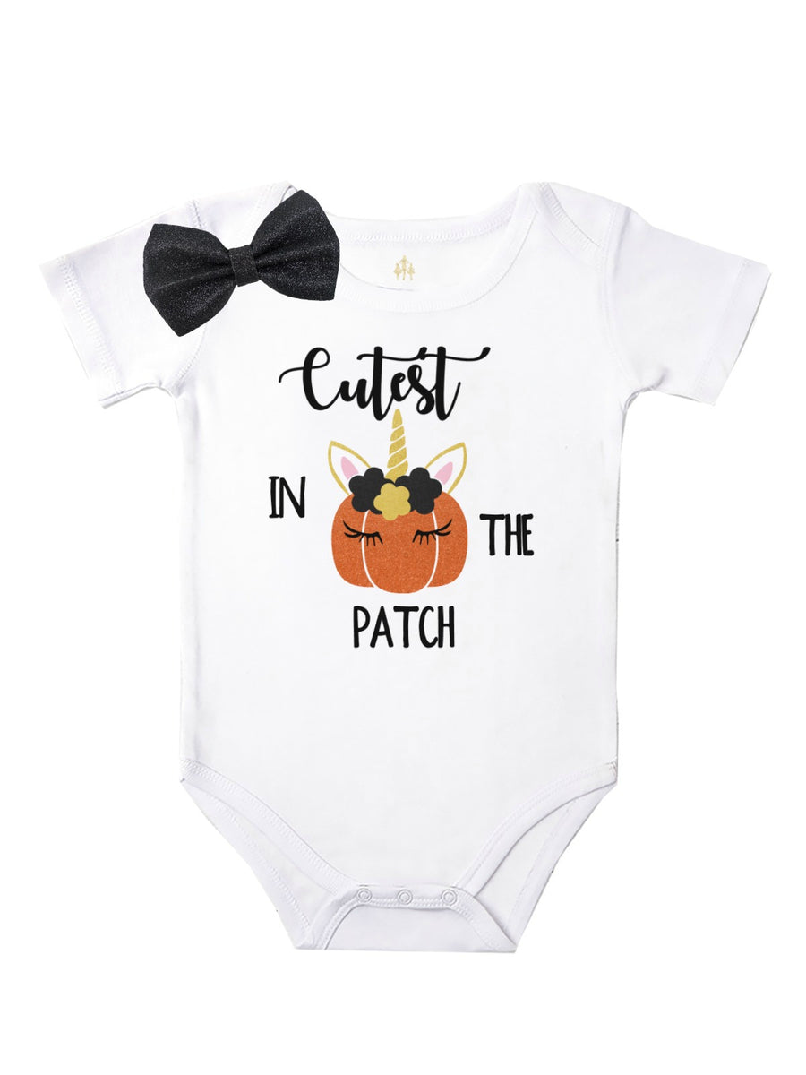cutest pumpkin in the patch girls bodysuit