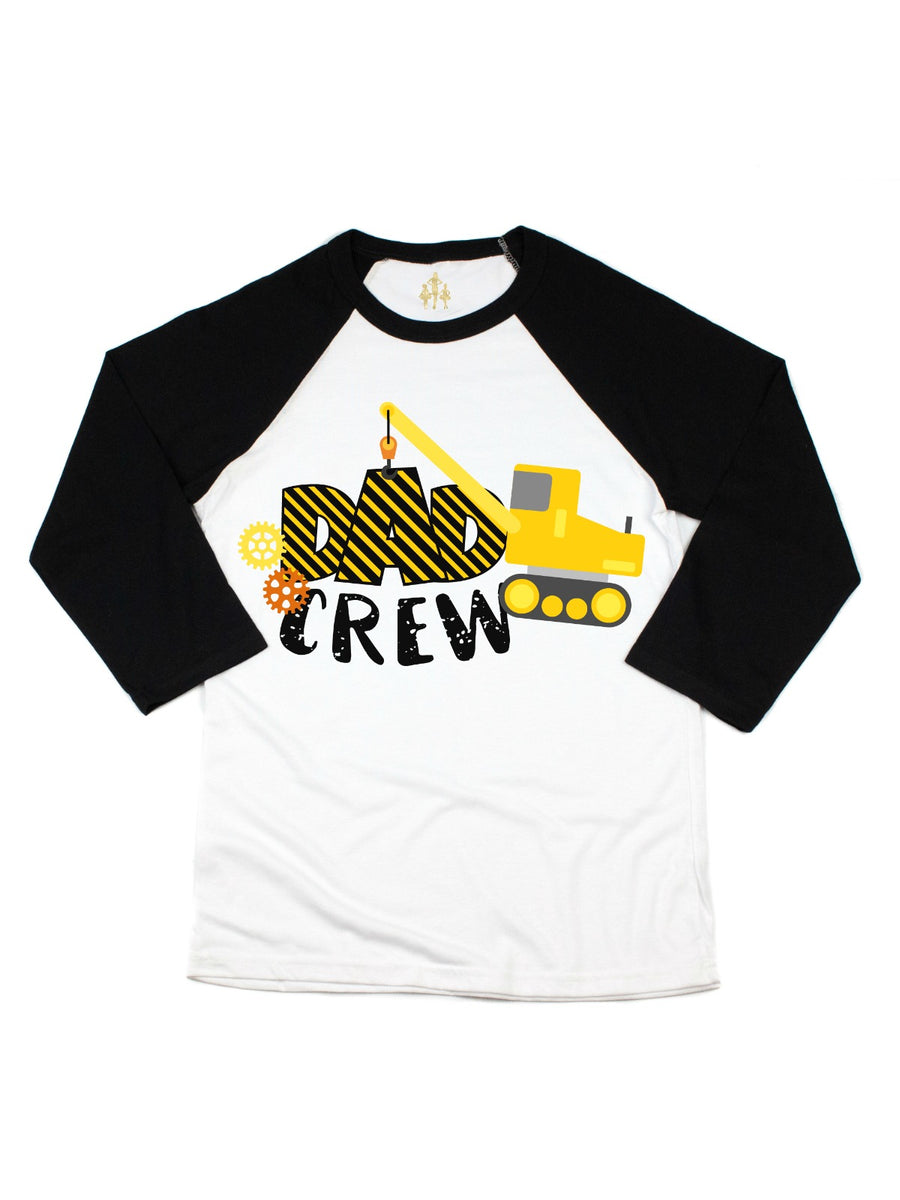 dad crew construction birthday party shirt