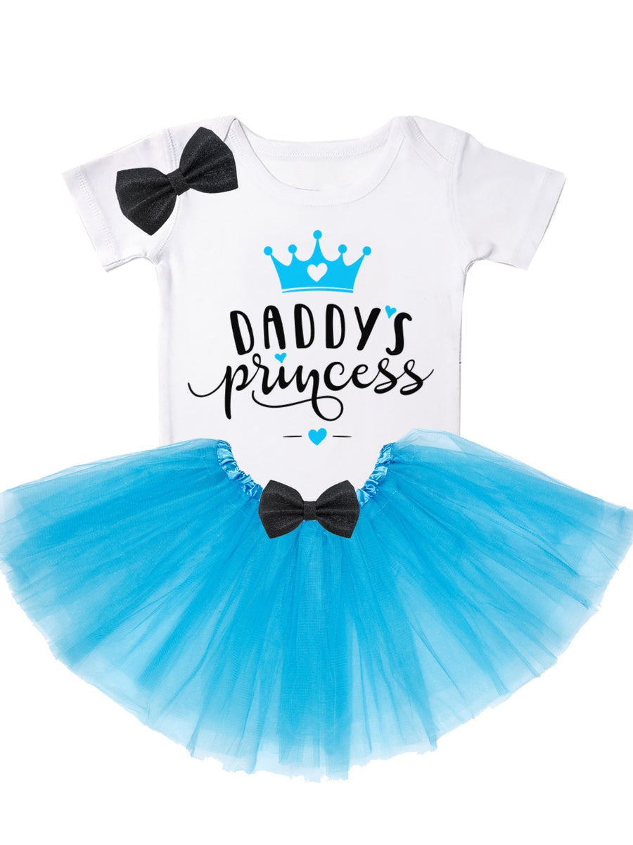 Daddy's Princess Tutu Outfit in Blue for Father's Day