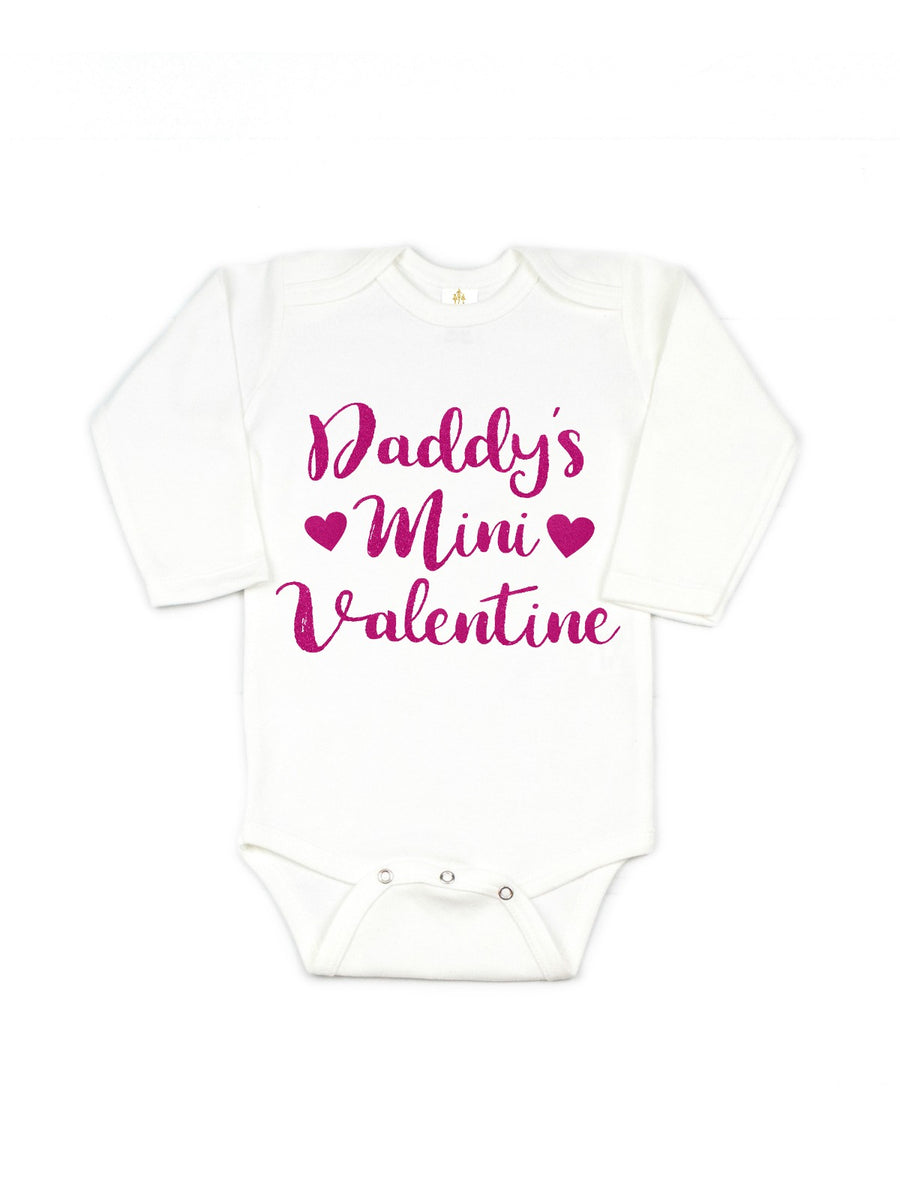 daddys mini valentine tutu outfit pink and silver