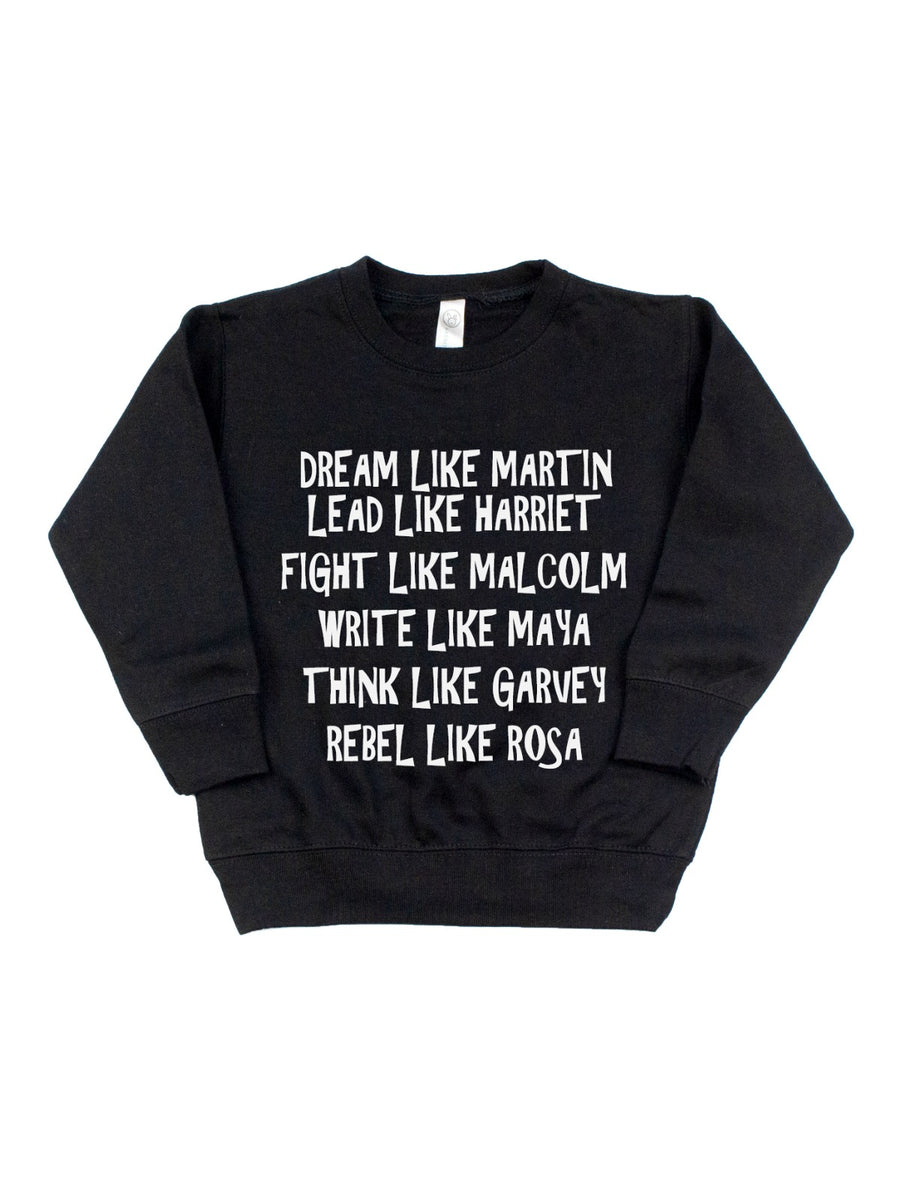 dream like martin kids black history month sweatshirt