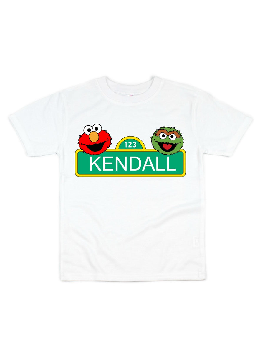 personalized sesame street shirt for kids