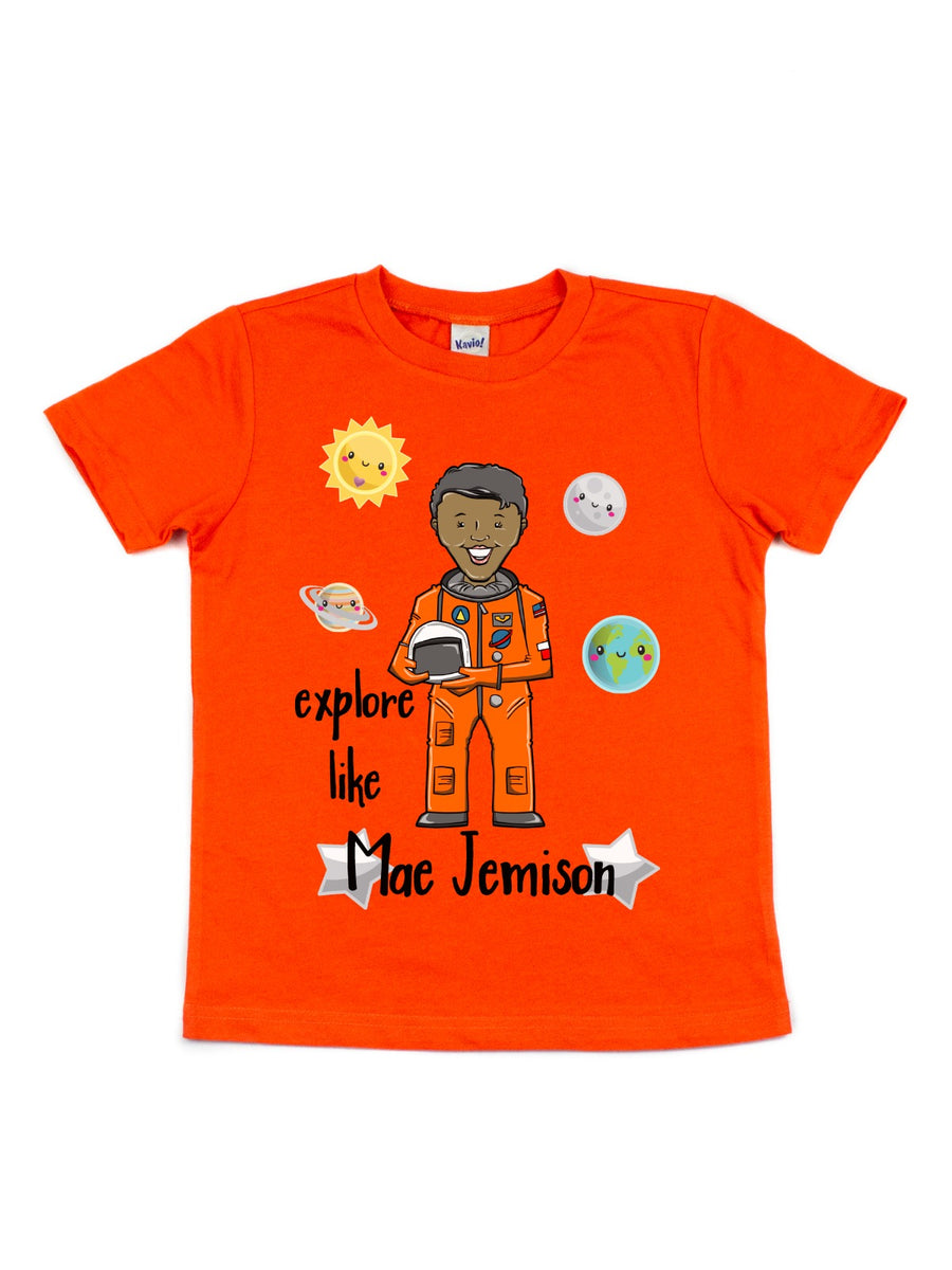 explore like Mae Jemison kids black history month shirt