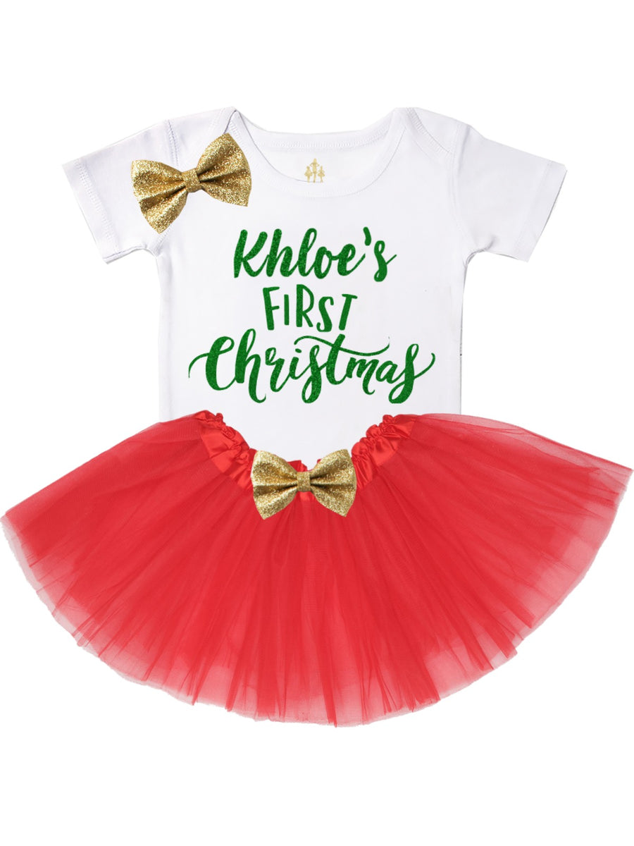personalized first Christmas outfit