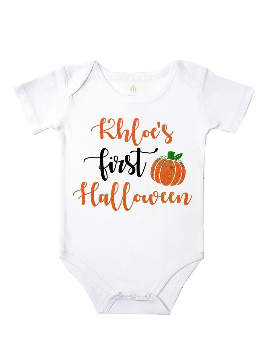 personalized first halloween baby girl tutu outfit