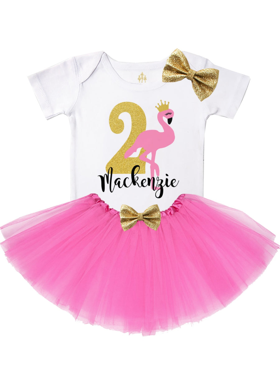 flamingo birthday tutu outfit