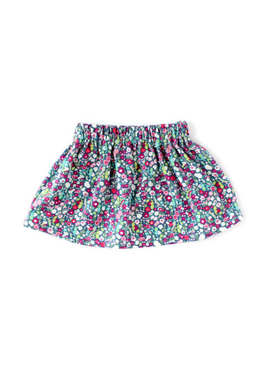 girls floral basic skirt