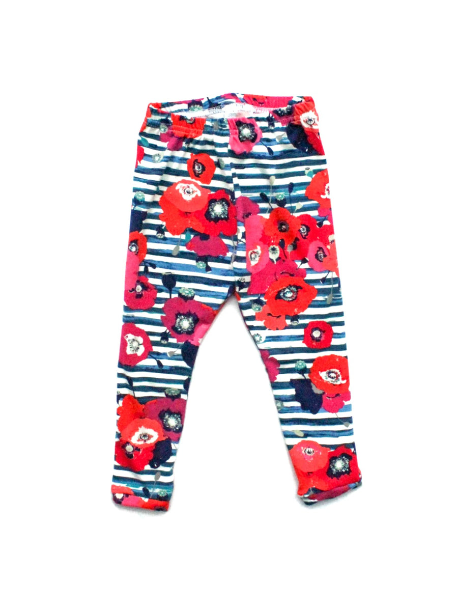 flower baby girl and toddler girl leggings