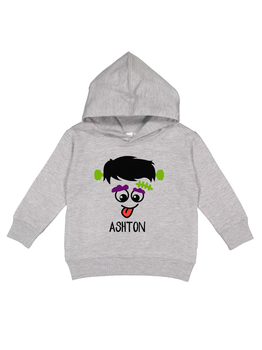 personalized boys frankenstein monster fleece pullover hoodie