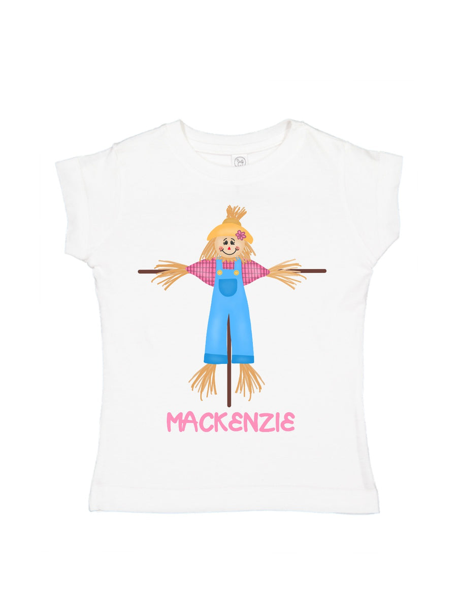 girls personalized scarecrow shirt