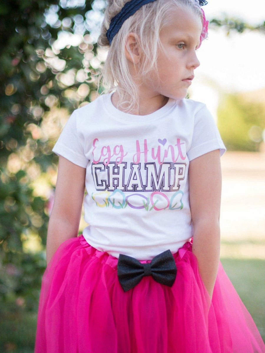 egg hunt champ girls Easter t-shirt