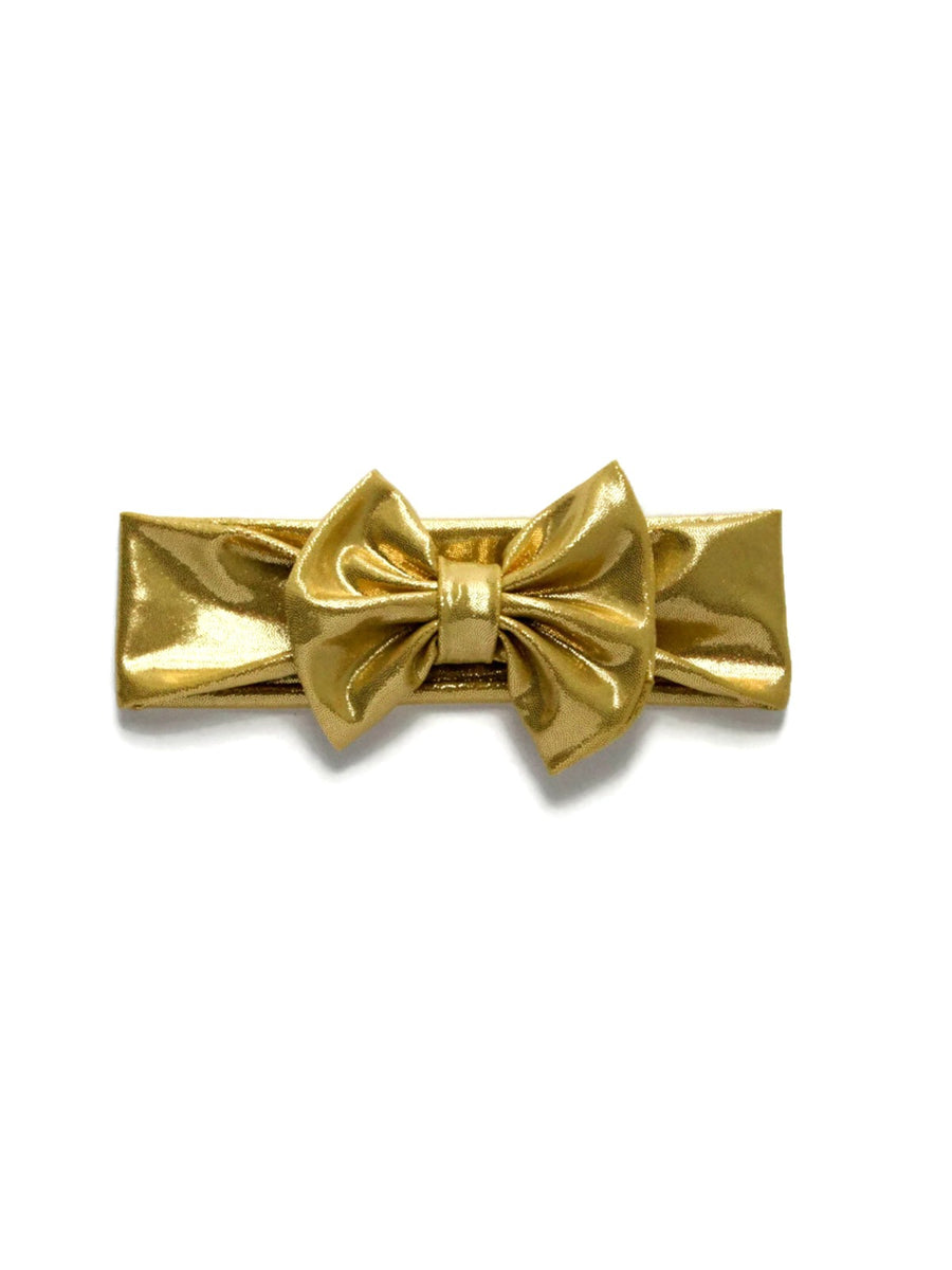 Bow Headband - Metallic Gold