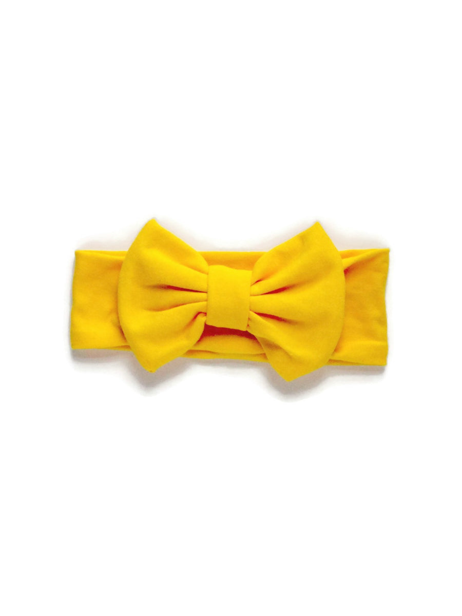 Bow Headband - Yellow