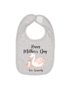 happy first mothers day custom swan bib
