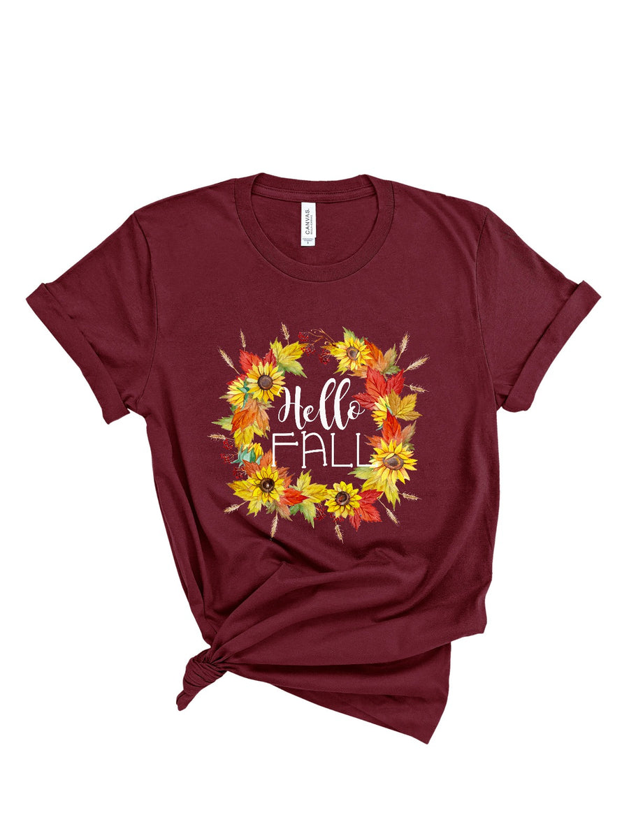 hello fall women's shirt