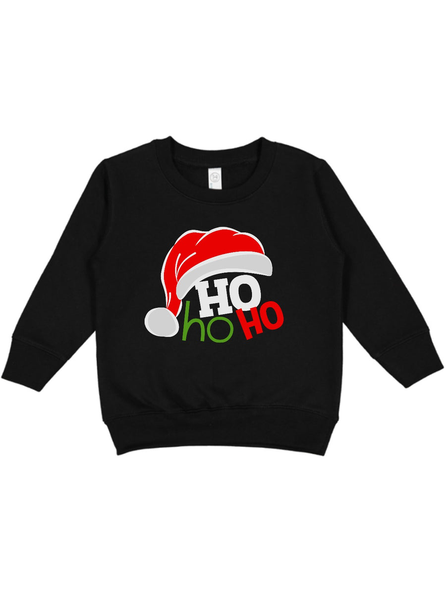 HO HO HO kids unisex sweatshirt in black