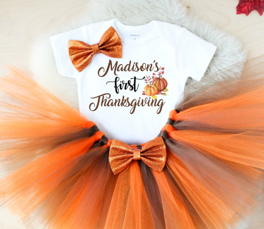 Personalized First Thanksgiving Outfit