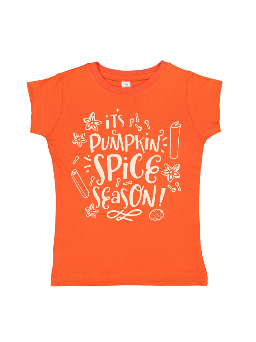 it's pumpkin spice season girls orange shirt