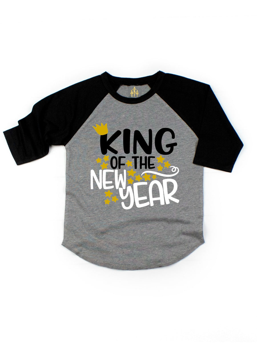 already king of the new year kids raglan t-shirt