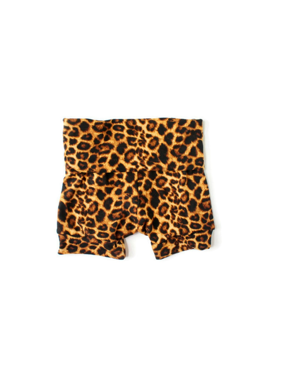 baby and toddler girl leopard animal print shorts