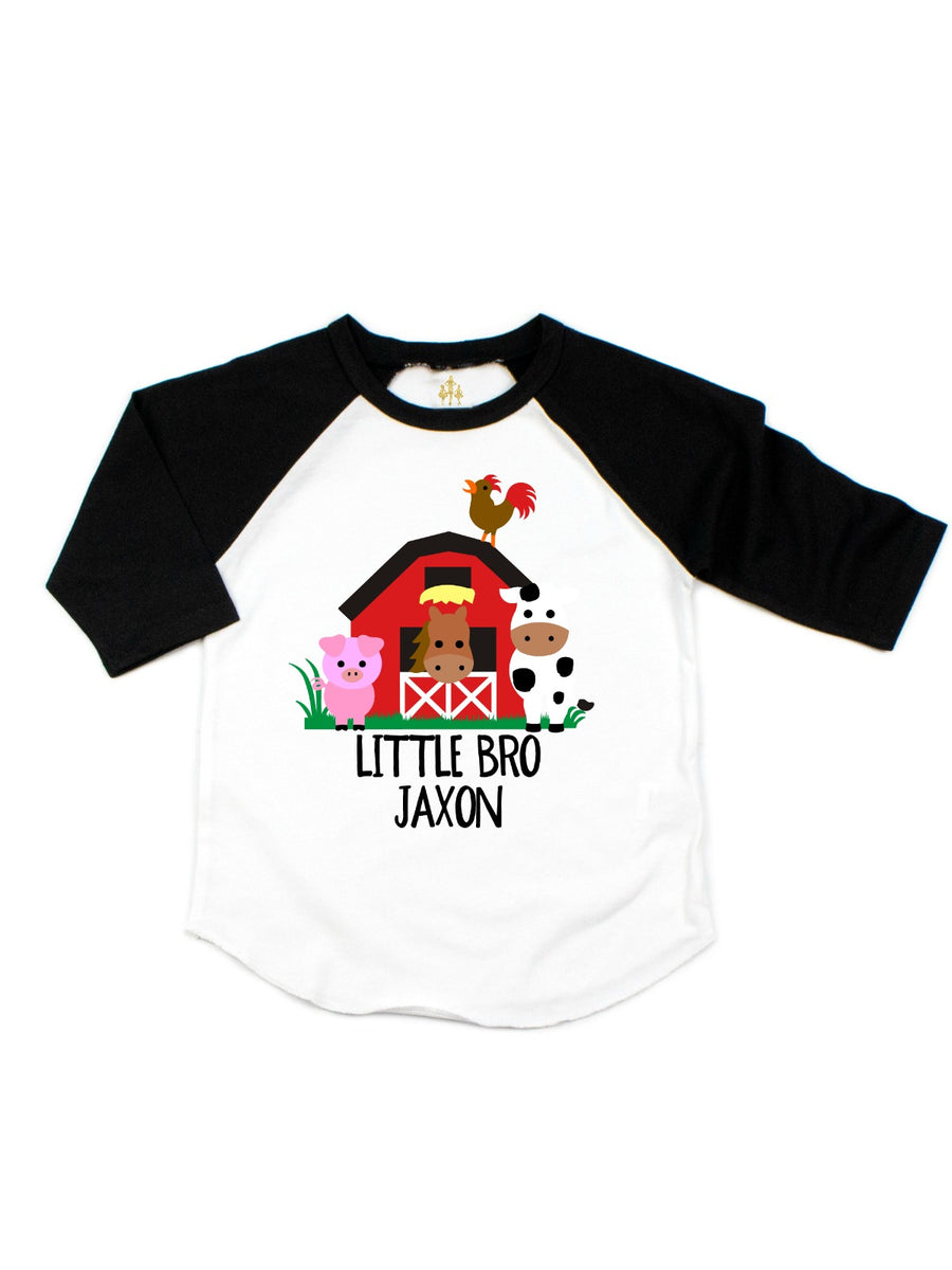 personalized big sister barn animals shirts