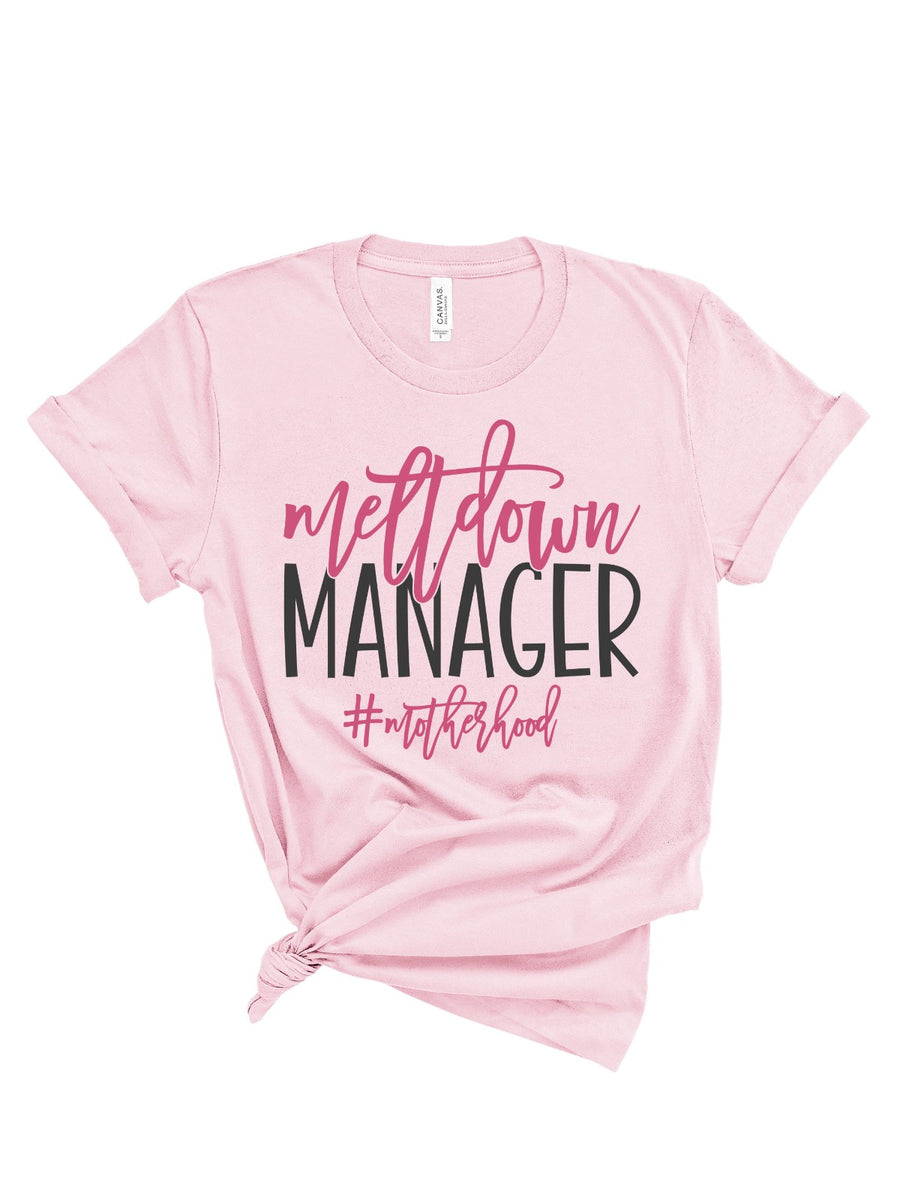 meltdown manager momlife t-shirt in pink