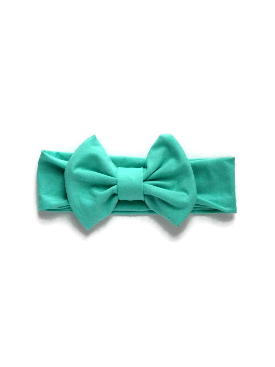 Bow Headband - Mint Green